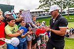 CROMWELL, CT. 19 June 2019-061919 - PGA Tour player and current world #1 Brooks Koepka, right, takes time after his round to sign autographs for the fans, during the Travelers Championship Pro-am day at the TPC River Highlands in Cromwell on Wednesday. Bill Shettle Republican-American