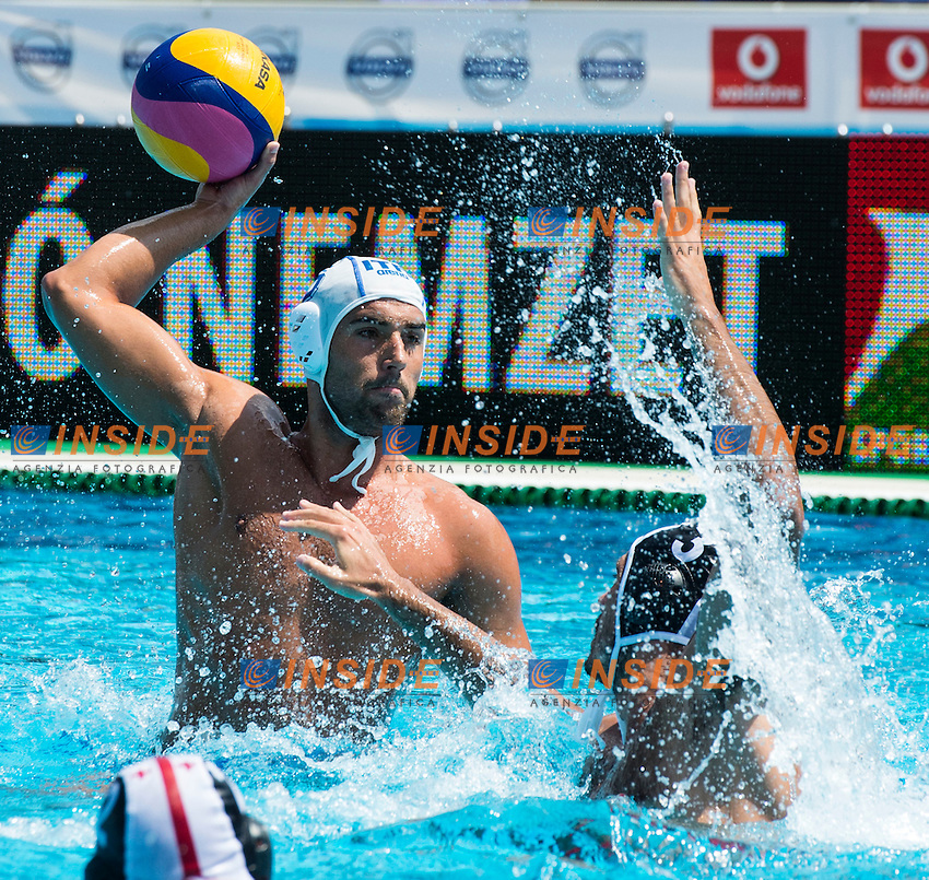5 GIORGETTI Alex ITA<br /> ITA(white) vs GEO(blue) Men<br /> LEN European Water Polo Championships 2014 - July 14-27<br /> Alfred Hajos -Tamas Szechy Swimming Complex<br /> Margitsziget - Margaret Island<br /> Day04 - July 17 <br /> Photo G. Scala/Inside/