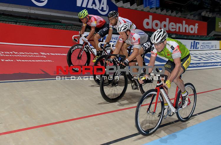 10.01.2014, &Ouml;VB Arena, Bremen, GER, Sixdays Bremen, im Bild Leif Lampater (Team Sparkasse Bremen #6), Christian Grasmann (Team Schmidt + Koch #1), Andreas M&uuml;ller (Team Ryanair #3), Milan Kadlec (Team leasing e bike #8)<br /> <br /> Foto &copy; nordphoto / Frisch