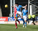 St Johnstone v Aberdeen&hellip;15.04.17     SPFL    McDiarmid Park<br />Michael Coulson and Ryan Christie<br />Picture by Graeme Hart.<br />Copyright Perthshire Picture Agency<br />Tel: 01738 623350  Mobile: 07990 594431