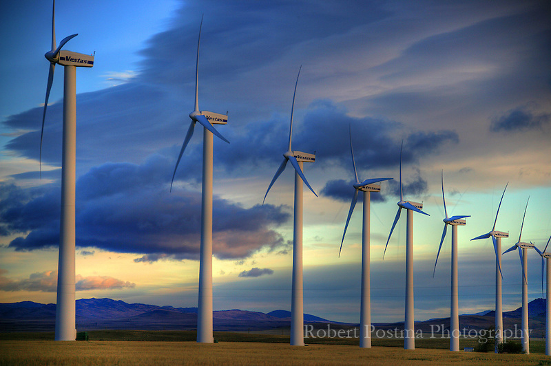 The windmills outside of Pincher Creek.