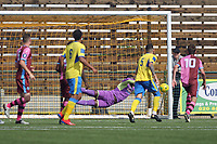 Valery Pajetat of Haringey makes a fantastic save during Haringey Borough vs Corinthian Casuals, BetVictor League Premier Division Football at Coles Park Stadium on 10th August 2019