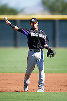 Colorado Rockies Jose Gomez (66) during an Instructional League game against SK Wyvern of Korea on October 5, 2016 at Salt River Fields at Talking Stick in Scottsdale, Arizona.  (Mike Janes/Four Seam Images)