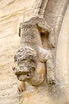 Village parish church of Saint Mary, Steeple Ashton, Wiltshire, England, UK - carved stone animal heavily weathered