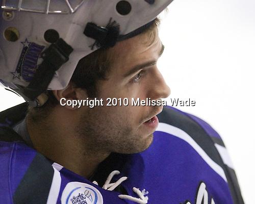 Carsen Chubak (Niagara - 1) - The visiting Niagara University Purple Eagles defeated the Northeastern University Huskies 4-1 on Friday, November 5, 2010, at Matthews Arena in Boston, Massachusetts.
