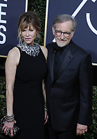 www.acepixs.com<br /> <br /> January 7 2018, LA<br /> <br /> Actor Kate Capshaw (L) and producer/director Steven Spielberg arriving at the 75th Annual Golden Globe Awards at The Beverly Hilton Hotel on January 7, 2018 in Beverly Hills, California.<br /> <br /> By Line: Peter West/ACE Pictures<br /> <br /> <br /> ACE Pictures Inc<br /> Tel: 6467670430<br /> Email: info@acepixs.com<br /> www.acepixs.com