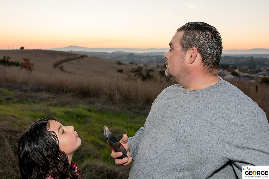 The Crawford Family overlooking the Bay Area from the Benicia Hillside.