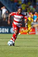 28 AUGUST 2010:  FC Dallas' Jeff Cunningham (9) during MLS soccer game between FC Dallas vs Columbus Crew at Crew Stadium in Columbus, Ohio on August 28, 2010.