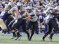 Annapolis, MD - October 21, 2017: UCF Knights quarterback McKenzie Milton (10) runs the ball during the game between UCF and Navy at  Navy-Marine Corps Memorial Stadium in Annapolis, MD.   (Photo by Elliott Brown/Media Images International)