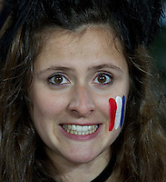 Rugby World Cup Auckland  England v France  Quarter Final 2 - 08/10/2011.French fan at Eden Park   (France).Photo Frey Fotosports International/AMN Images