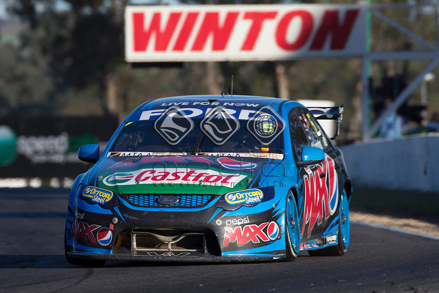 Mark Winterbottom of Ford Performance Racing during the Winton 400, Event 03 of the 2014 Australian V8 Supercars Championship Series at the Winton Motor Raceway, Winton, Victoria, April 06, 2014.<br /> <br /> <br /> <br /> <br /> &copy; Sport the library / Mark Horsburgh<br /> &copy; Sport the library / Mark Horsburgh