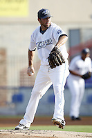 July 11, 2009:  Pitcher Shaun Marcum of the Dunedin Blue Jays delivers a pitch during a game at Dunedin Stadium in Dunedin, FL.  Marcum was on a rehab assignment with Dunedin, who is the Florida State League High-A affiliate of the Toronto Blue Jays.  Photo By Mike Janes/Four Seam Images