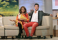May 15, 2012 Val Chmerkovskiy and Sherri Shepherd at Good Morning America discussing Dancing with the Stars TV Show in New York City. Credit: RW/MediaPunch Inc.