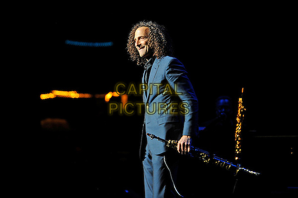LONDON, ENGLAND - April 22: Kenny G (Kenneth Bruce Gorelick) performs in concert at the Eventim Apollo on April 22, 2014 in London, England<br /> CAP/MAR<br /> &copy; Martin Harris/Capital Pictures