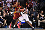 MILWAUKEE, WI - MARCH 18: Purdue Boilermakers forward Caleb Swanigan (50) backs into Iowa State Cyclones guard Deonte Burton (30) during the second half of the 2017 NCAA Men's Basketball Tournament held at BMO Harris Bradley Center on March 18, 2017 in Milwaukee, Wisconsin. (Photo by Jamie Schwaberow/NCAA Photos via Getty Images)