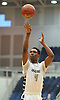 KC Ndefo #4 of Elmont drains a free throw to complete a three-point play during the Nassau County varsity boys basketball Class A semifinals against Valley Stream North at Hofstra University in Hempstead, NY on Wednesday, March 1, 2017.