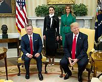 APR 05 Trump Meets King Abdullah II of Jordan