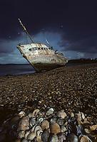 Europe/France/Bretagne/29/Finistère/Le Fret: Détail d'une épave de bateau