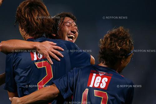 (L to R) <br /> Yuki Nogami, <br /> Shinichi Terada (Yokohama FC), <br /> JULY 26, 2014 - Football /Soccer : <br /> 2014 J.LEAGUE Division 2 <br /> between Yokohama FC 4-0 Jubilo Iwata <br /> at NHK Spring Mitsuzawa Football Stadium, Kanagawa, Japan. <br /> (Photo by AFLO SPORT) [1205]