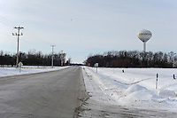 One Mile Road is seen outside the Thomson Correctional Center in tiny Thomson, Illinois on January 4, 2010. Thomson Correctional Center was an empty prison facility outside the town of 600 that is being revamped and rehabilitated in preparation for the possible incoming influx of prisoners from the U.S. detention facility for prisoners of the War on Terror currently held in Guantanamo Bay, Cuba.