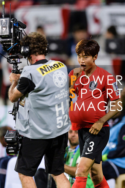 Kim Jinsu of South Korea celebrates after scoring his goal during the AFC Asian Cup UAE 2019 Round of 16 match between South Korea (KOR) and Bahrain (BHR) at Rashid Stadium on 22 January 2019 in Dubai, United Arab Emirates. Photo by Marcio Rodrigo Machado / Power Sport Images