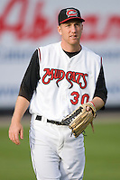 Left fielder Todd Frazier #30 of the Carolina Mudcats at Five County Stadium May 18, 2009 in Zebulon, North Carolina. (Photo by Brian Westerholt / Four Seam Images)