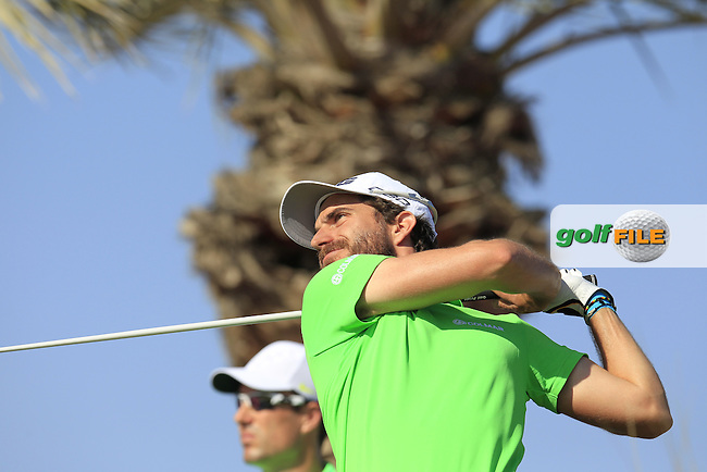 Alejandro CANIZARES (ESP) tees off the 11th tee during Thursday's Round 2 of the 2015 Commercial Bank Qatar Masters held at Doha Golf Club, Doha, Qatar.: Picture Eoin Clarke, www.golffile.ie: 1/22/2015
