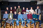Pictured at the South Kerry Championship Awards night night in The Kerry Coast Hotel on Saturday night were the 'Team of the Championship' front l-r; Daragh O'Sullivan(St Marys), Aidan Walsh(St Marys), Anthony Cournane(St Marys), Stephen Donnelly representing Brian Curran(St Marys), Shean O'Connor(Piarsaigh na Dromoda), Niall O'Shea(Piarsaigh na Dromoda), Kevin O'Leary(Piarsaigh na Dromoda), bck l-r; Johnny Griffin representing Conor O'Shea(St Marys), Daniel Daly(St Marys), Jim Lynch(Valentia), Mathew O'Sullivan(St Michaels/Foilmore), Mark Griffin(St Michaels/Foilmore), David McGillicuddy(Sneem/Derrynane), Padraig 'Podge' O'Sullivan(Skellig Rangers), & Bryan Sheehan(St Marys).