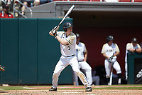 Josh White (3) of the Army Black Knights at bat against the North Carolina State Wolfpack at Doak Field at Dail Park on June 3, 2018 in Raleigh, North Carolina. The Wolfpack defeated the Black Knights 11-1. (Brian Westerholt/Four Seam Images)