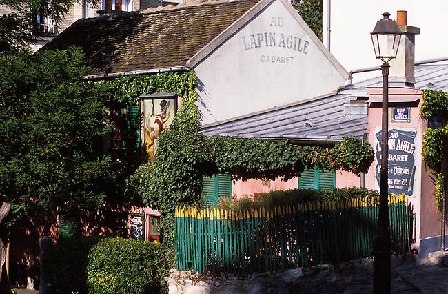 Paris, Restaurant Au Lapin agile, Montmartre. *** Lapin agile restaurant, Montmartre, Paris.