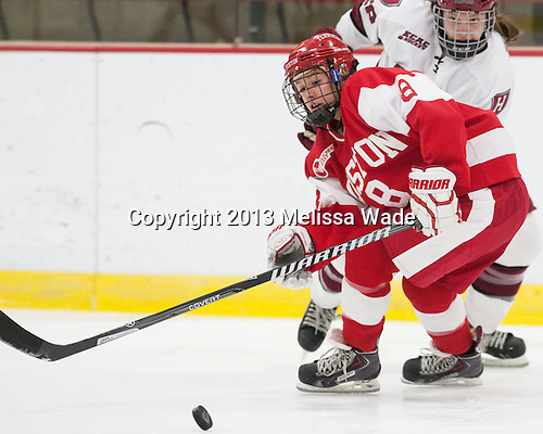 Kayla Tutino (BU - 8) - The Harvard University Crimson defeated the visiting Boston University Terriers 3-1 on Friday, November 22, 2013, at Bright-Landry Hockey Center in Cambridge, Massachusetts.