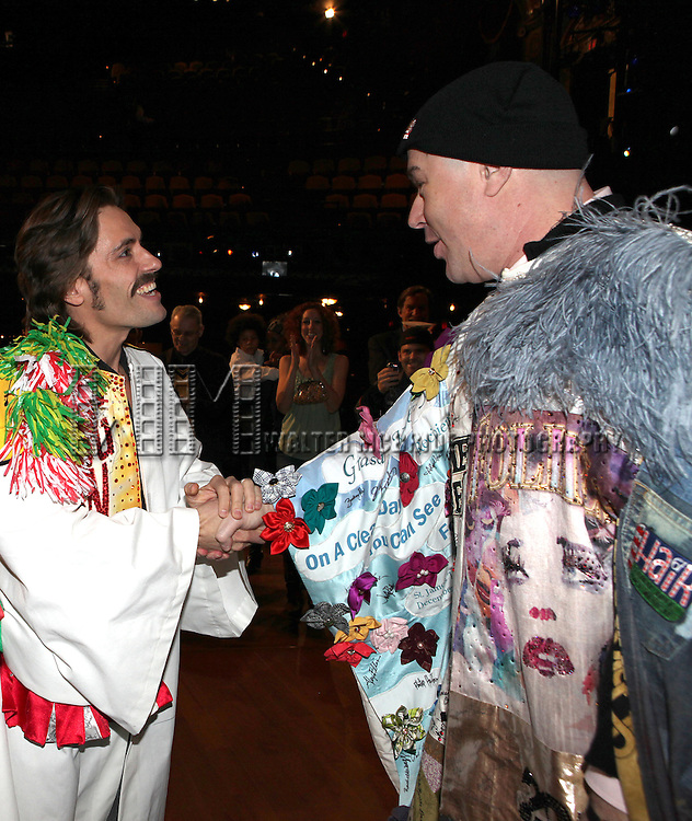 Eric Sciotto & Merwin Foard (recepient for 'Annie')  attending the Opening Night Performance Gypsy Robe Ceremony celebrating Eric Sciotto receiving for 'The Mystery of Edwin Drood' at Studio 54 in New York City on 11/13/2012