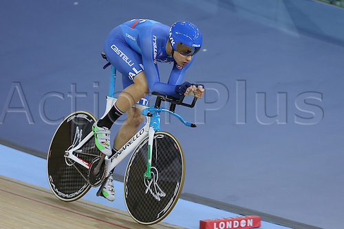 04.03.2016. Lee valley Velo Centre. London England. UCI Track Cycling World Championships Mens Pursuit Final.  GANNA Filippo (ITA)