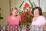 Marie Healy and Mary Holly of Tralee Flower club pictured at Fe?ile na mBla?th at Tralee town park on Saturday.