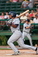 Deibinson Romero of the Ft. Myers Miracle during the game against the Daytona Cubs July 15 2010 at Jackie Robinson Ballpark in Daytona Beach, Florida. Photo By Scott Jontes/Four Seam Images