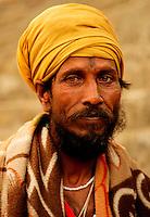 Portrait of a Hindu Sanyasi sadhu baba