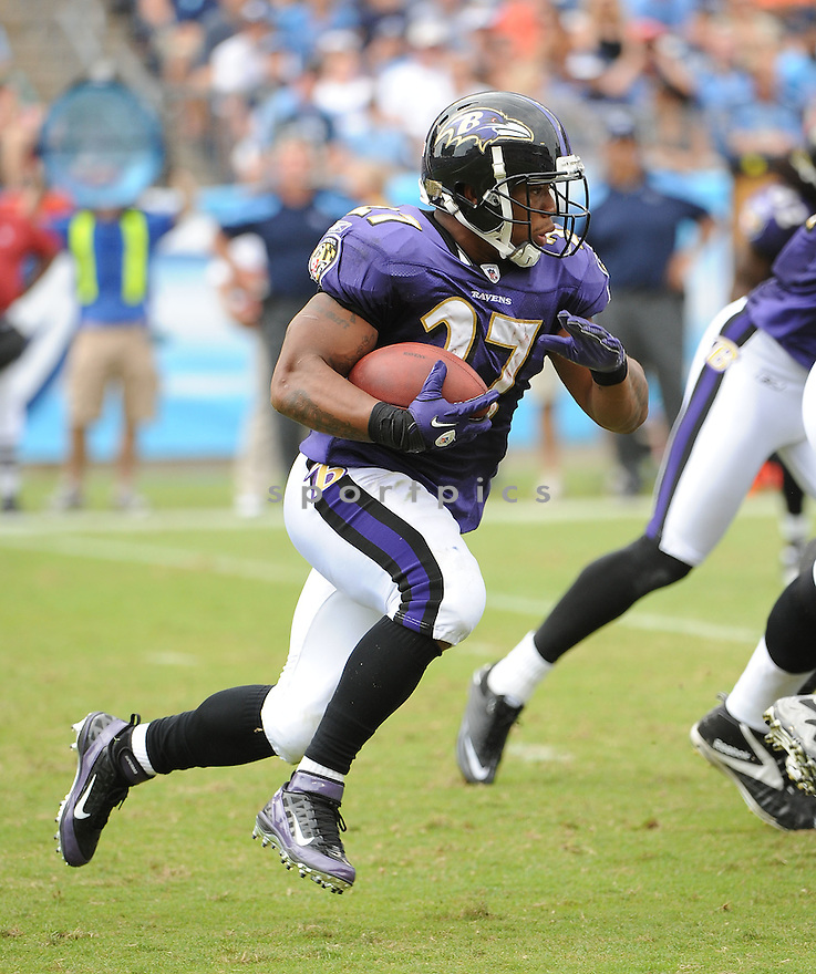RAY RICE, of the Baltimore Ravens, in action, during the Ravens game against the Tennessee Titans on September 18, 2011 at LP Field in Nashville, TN. The Titans beat the Ravens 26-13.