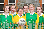 VICTORY: Castleisland Presentation players celebrate their victory over Presentation College Headford in Ennis on Friday in the All Ireland B Semi-final l-r: Cait Lynch, Mary Herlihy, Ann Marie Wrenn, Aoife Lyons, Una Kerins and Stephanie Murphy.   Copyright Kerry's Eye 2008