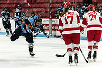 BOSTON, MA - JANUARY 04: Ida Kuoppala #26 of University of Maine takes a shot during a game between University of Maine and Boston University at Walter Brown Arena on January 04, 2020 in Boston, Massachusetts.