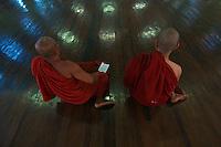 Yangon large reclining Buddha 70 meters long.and the Monastery. Myanmar