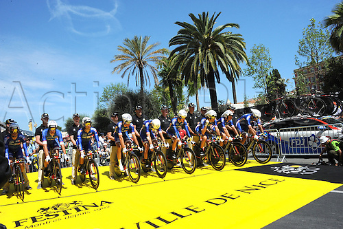 02.07.2013 Nice, France. Tour de France, Team Time Trial on stage 4 of the Tour De France from Nice. FDJ 2013, Nice