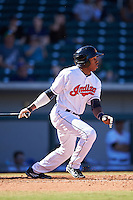 Mesa Solar Sox Greg Allen (2), of the Cleveland Indians organization, during a game against the Scottsdale Scorpions on October 18, 2016 at Sloan Park in Mesa, Arizona.  Mesa defeated Scottsdale 6-3.  (Mike Janes/Four Seam Images)
