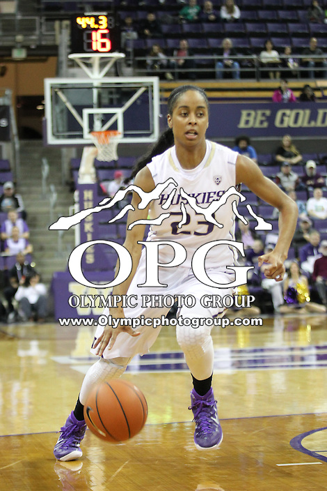 Feb 06, 2015:  Washington's Aminah Williams against Oregon State.  Washington defeated Oregon State 76-67 at Alaska Airlines Arena in Seattle, WA.