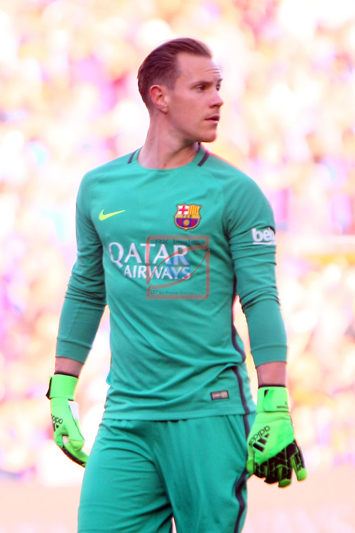 League Santander 2016/2017. Game: 36.<br /> FC Barcelona vs Villarreal CF: 4-1.<br /> Marc-Andre Ter Stegen.