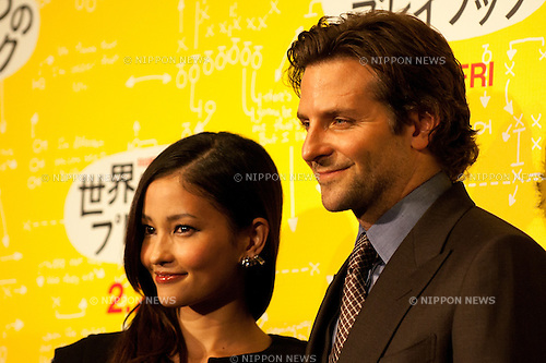 Bradley Cooper and Meisa Kuroki, Jan 24, 2013, Tokyo, Japan: Bradley Cooper and Meisa Kuroki appear at the Japan Premiere for Silver Linings Playbook at the Toho Cinemas in Tokyo, Japan on Thursday 24th January 2013. Bradley Cooper is visiting to promote his latest movie Silver Linings Playbook for the Japanese market. (Photo by Yumeto Yamazaki/Nippon News)