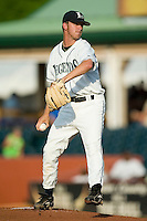 Lexington starting pitcher Casey Hudspeth (10) in action versus West Virginia at Applebee's Park in Lexington, KY, Thursday, June 7, 2007.