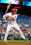 21 June 2010: Washington Nationals' third baseman Ryan Zimmerman at bat against the Kansas City Royals at Nationals Park in Washington, DC. The Nationals edged out the Royals 2-1 in the first game of their 3-game interleague series, snapping a 6-game losing streak. Mandatory Credit: Ed Wolfstein Photo
