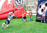 Young fans play games during Badgers homecoming on Saturday, October 12, 2013 in Madison, Wisconsin