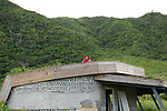 Orchid Island (蘭嶼), Taiwan -- Girls on the rooftop of the 'trash museum'.