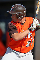 Bowling Green Falcons outfielder Alex Davison #21 at bat during a game against the Buffalo Bulls at Amherst Audubon Field on May 17, 2012 in Amherst, New York.  Buffalo defeated Bowling Green 14-0.  (Mike Janes/Four Seam Images)